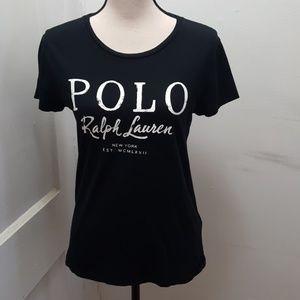 Polo Ralph Lauren Women's Black T-Shirt Sz: S